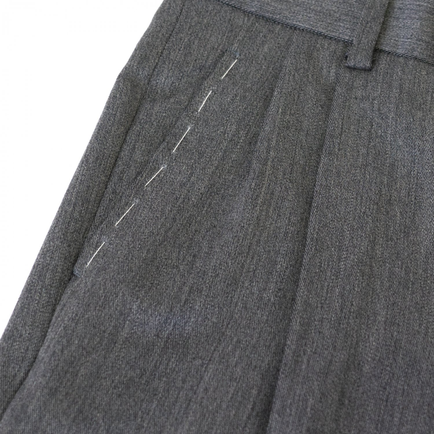 RICHFIELD * Wool 2tuck Tapered Trousers * Gray