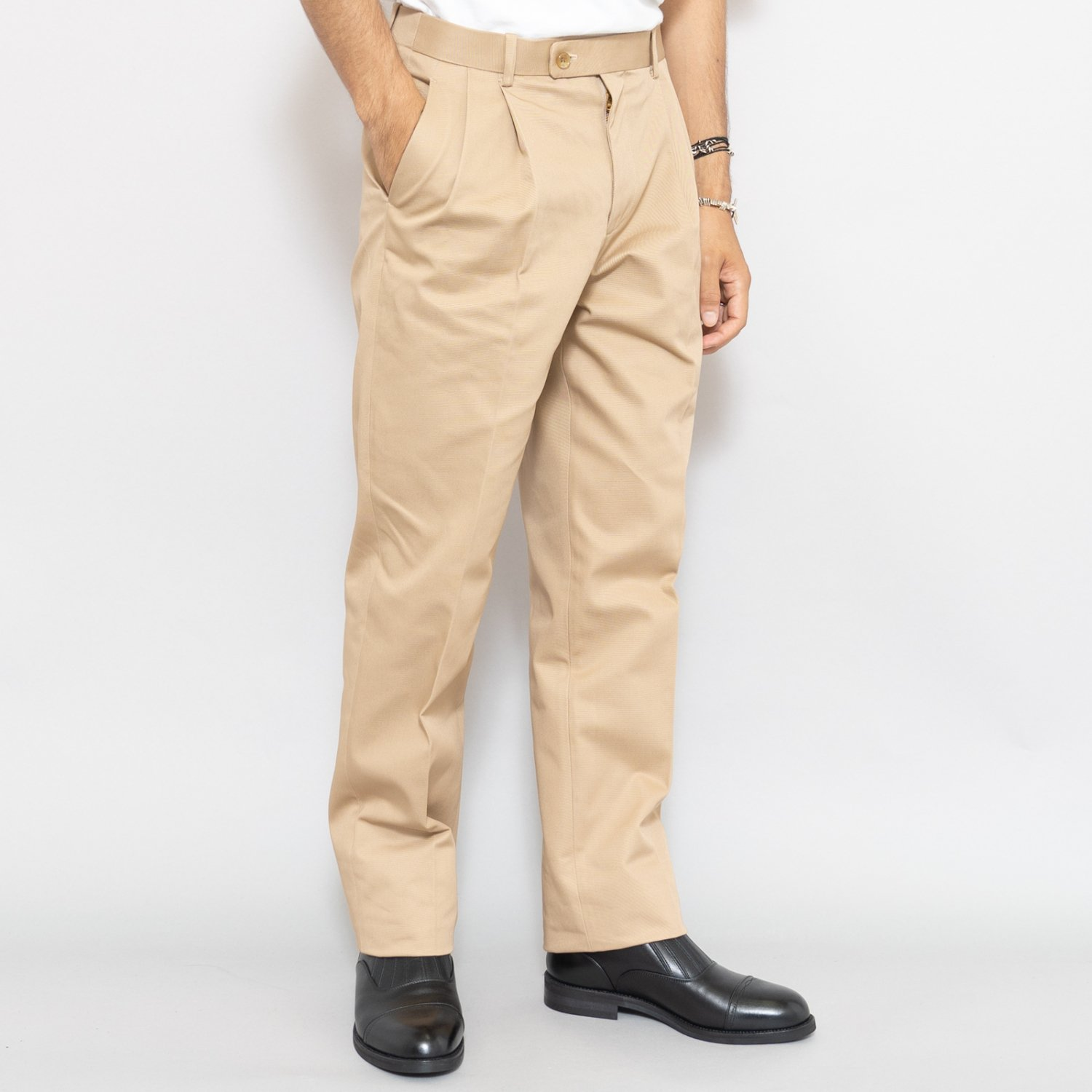 RICHFIELD * Chino Tapered Trousers * Beige
