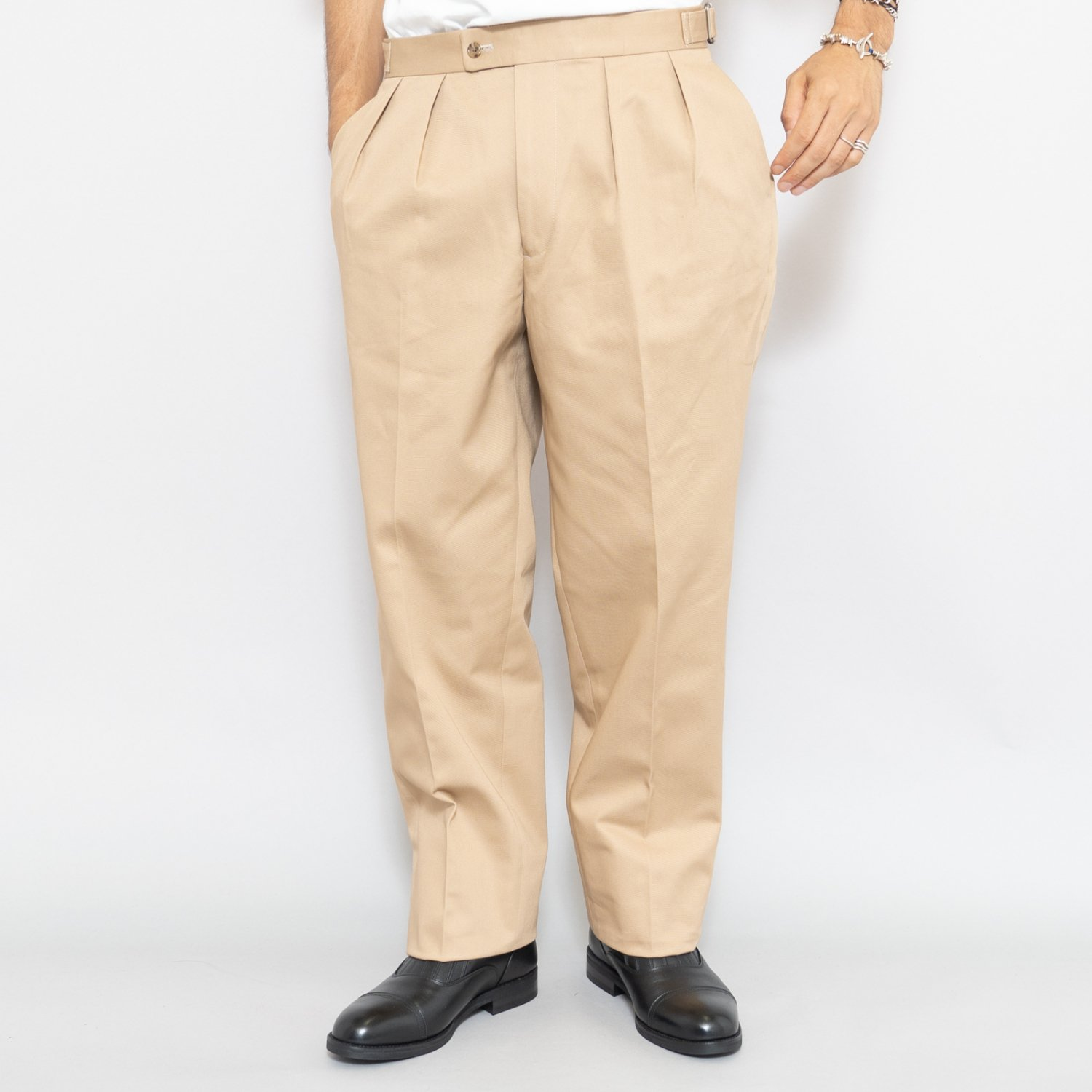 RICHFIELD * Chino Wide Straight Trousers * Beige