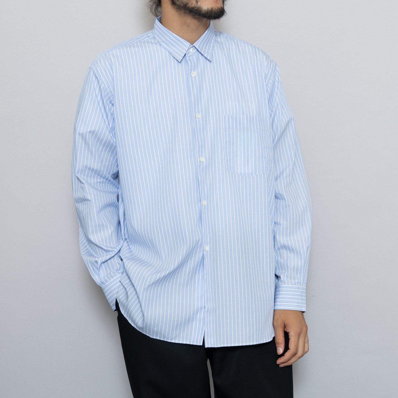 COMME des GARCONS SHIRT * Forever Wide Classic Poplin Stripe Long Sleeve Shirt * Stripe77