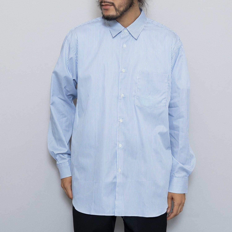 COMME des GARCONS SHIRT * Forever Wide Classic Poplin Stripe Long Sleeve Shirt * Stripe90