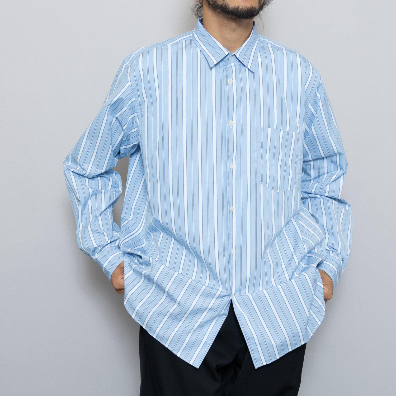COMME des GARCONS SHIRT * Forever Wide Classic Poplin Stripe Long Sleeve Shirt * Stripe102