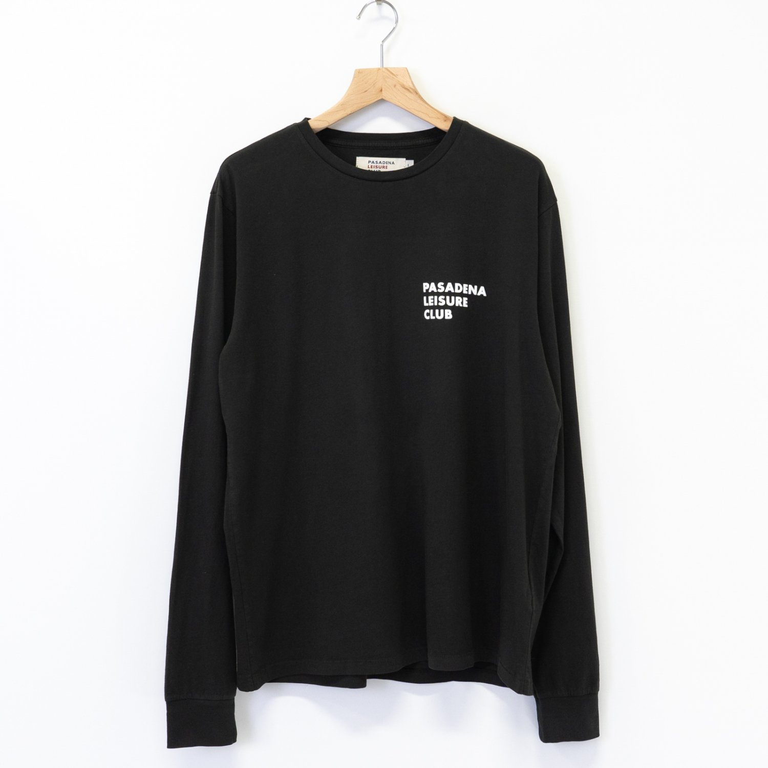 PASADENA LEISURE CLUB * Puff Logo L/S Tee * Faded Black