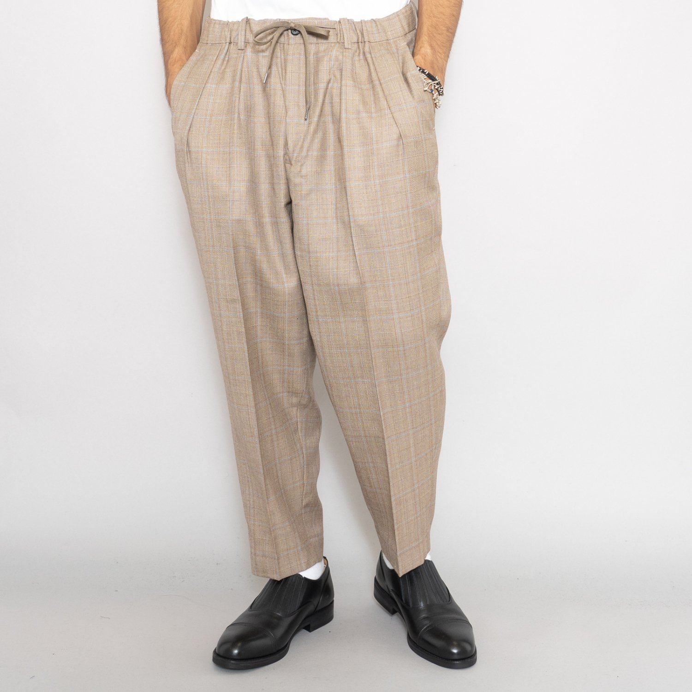 RICHFIELD * Wool Wide Tapered Trousers * Beige