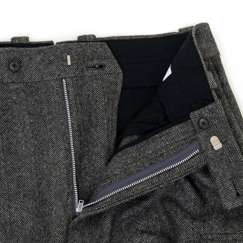 RICHFIELD * Wool Mix Wide Straight Trousers * Gray