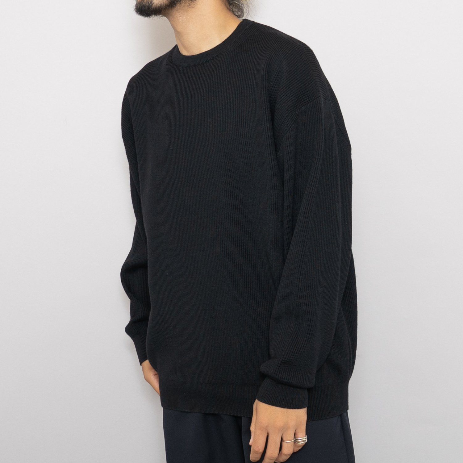 Graphpaper * High Density Crew Neck Knit * Black