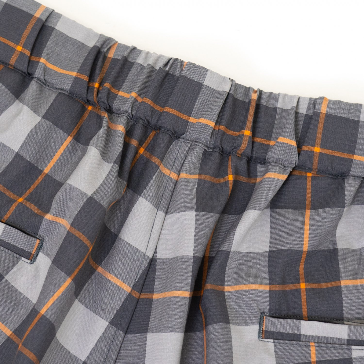 Graphpaper * Fine Wool Check Pants * Gray×Orange