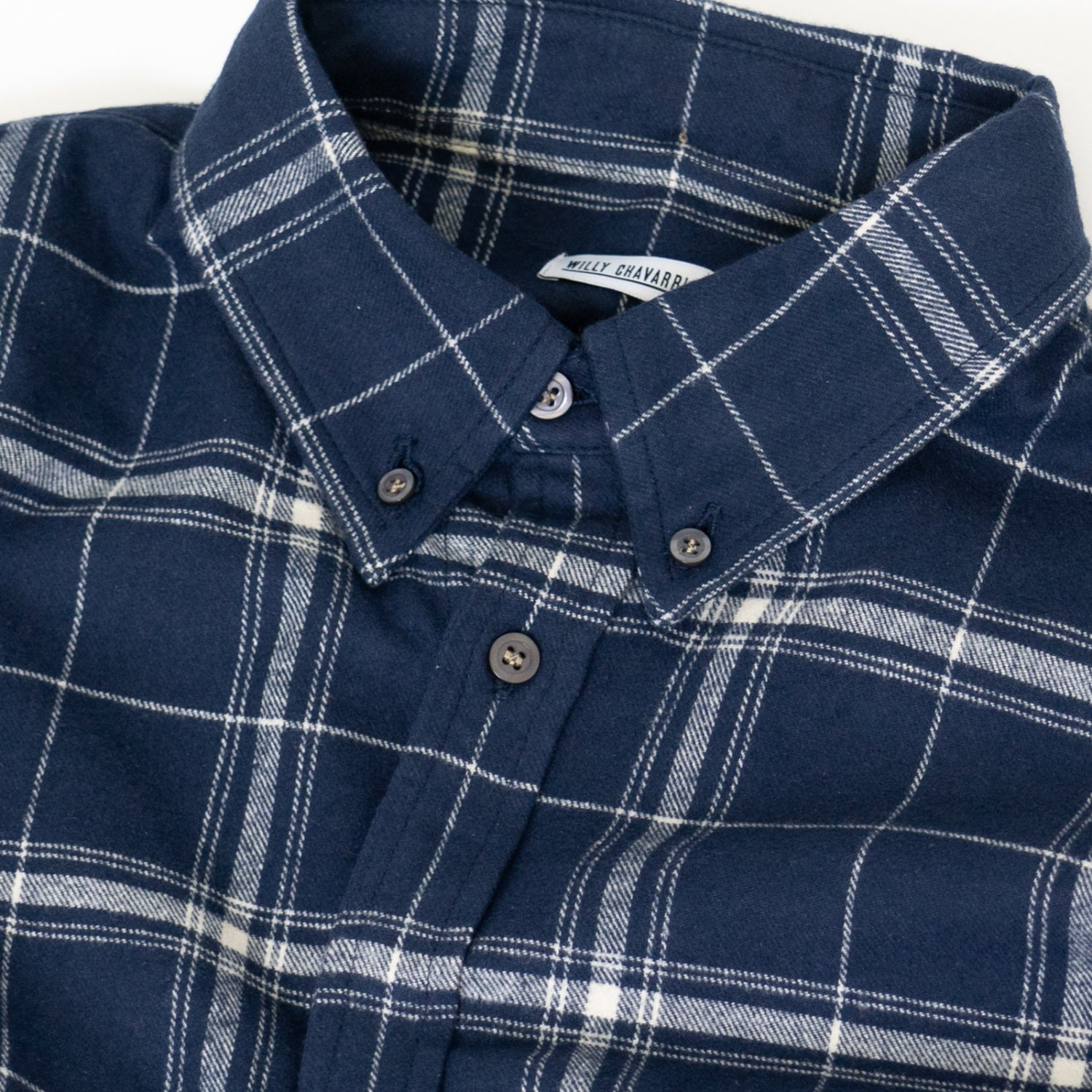 WILLY CHAVARRIA * BIG WILLY DRESS SHIRT * Blue Plaid