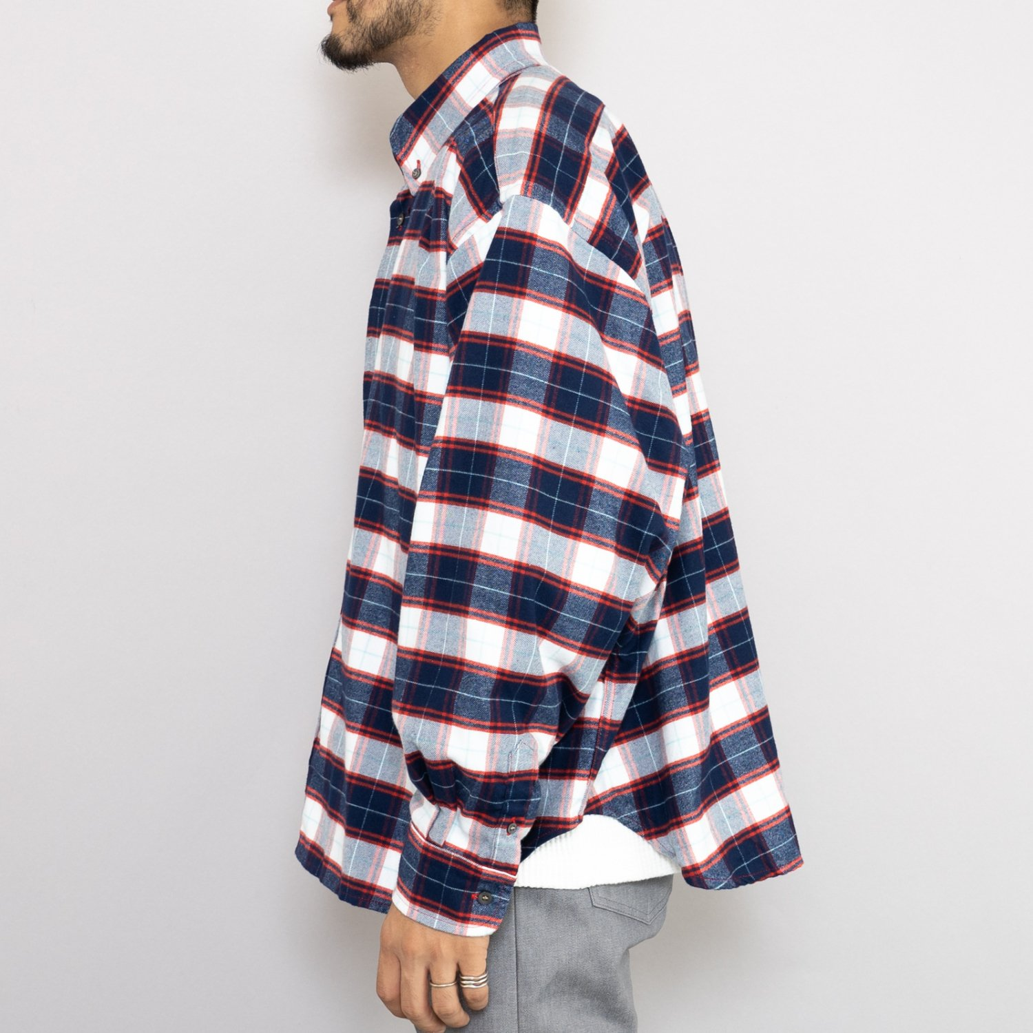 WILLY CHAVARRIA * BIG WILLY DRESS SHIRT * Red Plaid