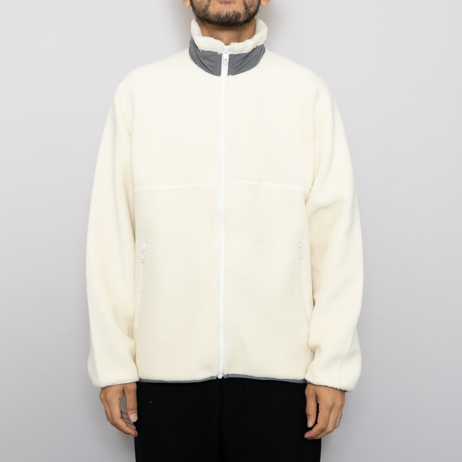 Graphpaper * Wool Boa Zip Up Blouson * White