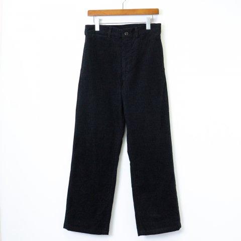 TUKI * 0138 Macaroni Trousers  Corduroy * Black