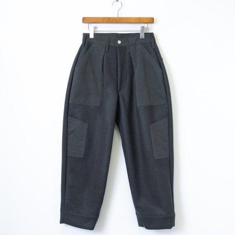 TUKI * 0135 Combat Pants Melton/Solid Twill * Steel Blue