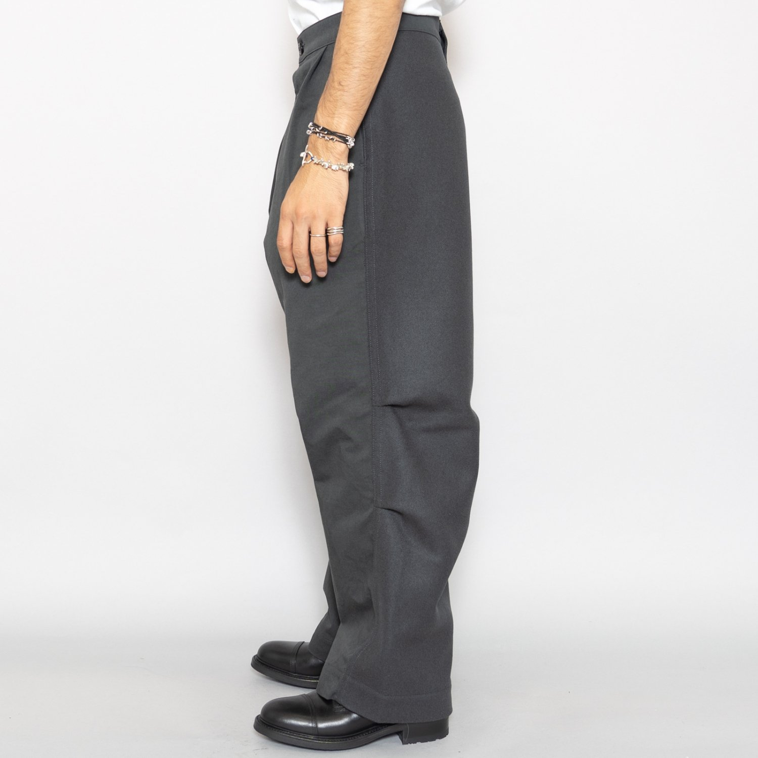 TUKI * 0136 Reversed Pants Melton/Solid Twill * Steel Blue