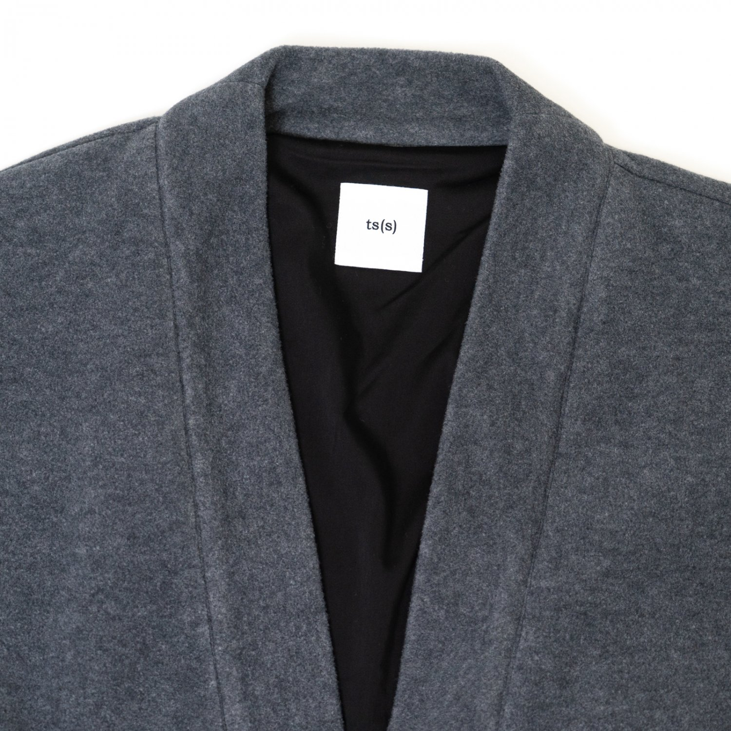 ts(s) * Italian Polyester Viscose Fleece Jersey Lined Easy Cardigan * Charcoal