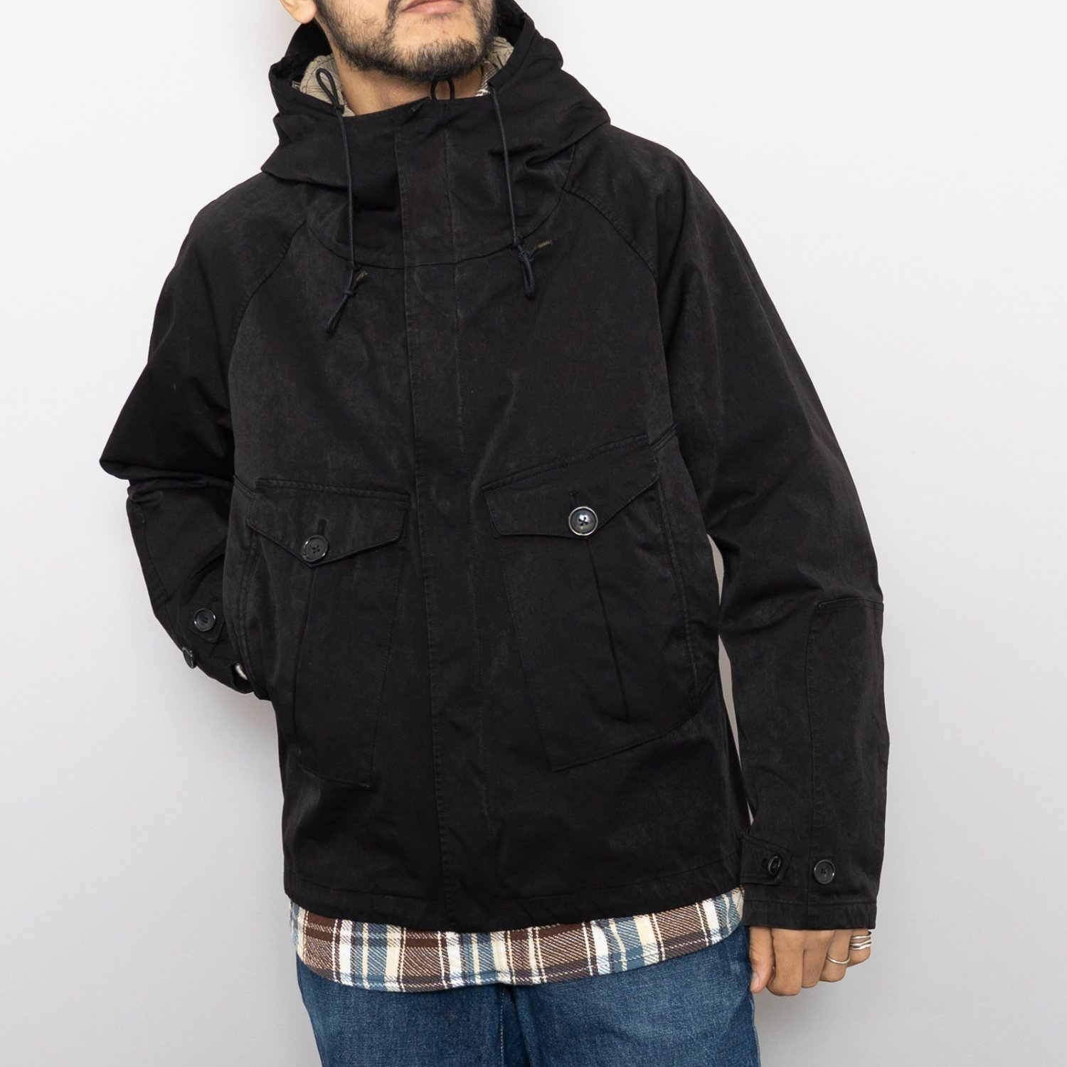 Ten-c * TEMPEST ANORAK * Black