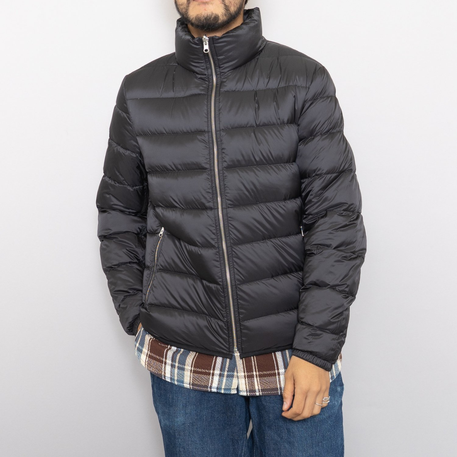 Ten-c * DOWN LINER WITH POCKETS * Black