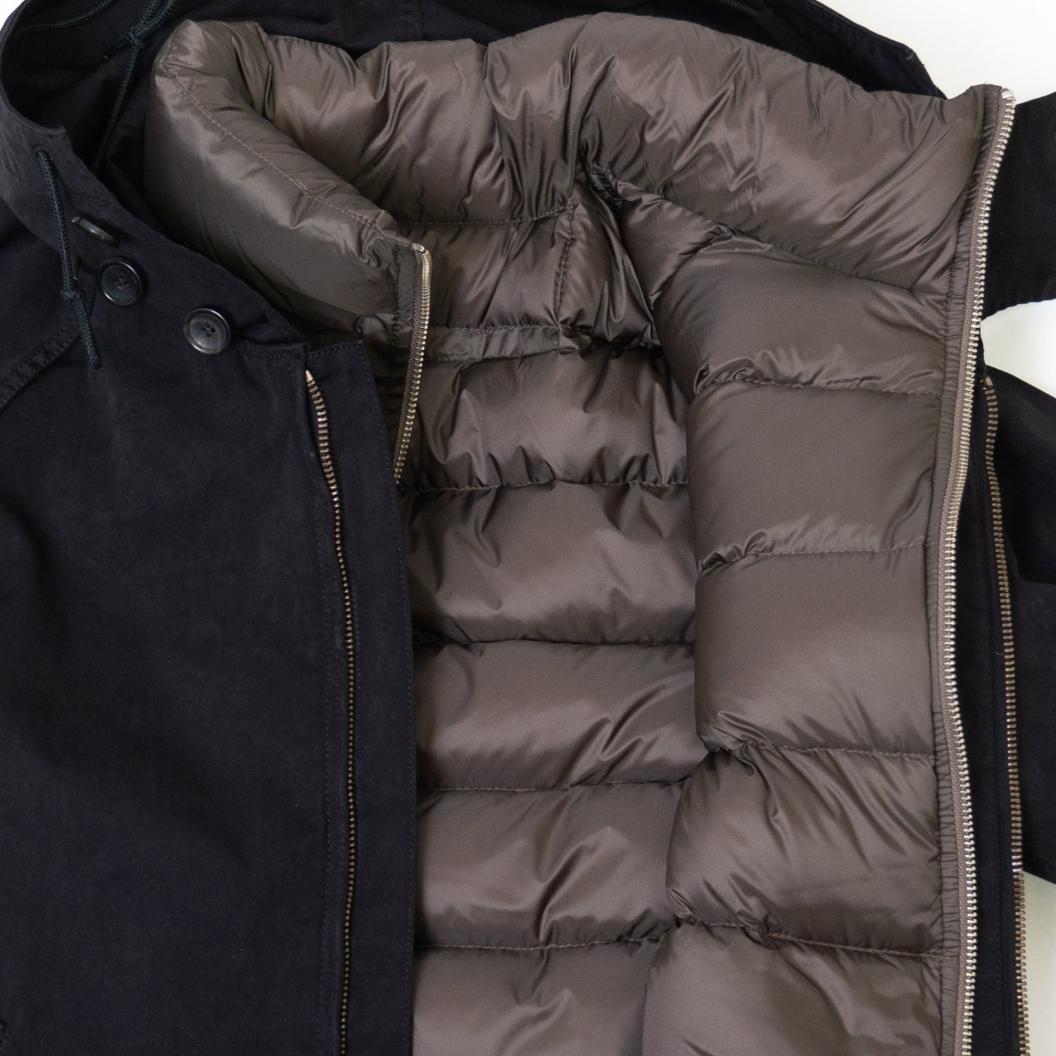 Ten-c * DOWN LINER WITH POCKETS * Charcoal