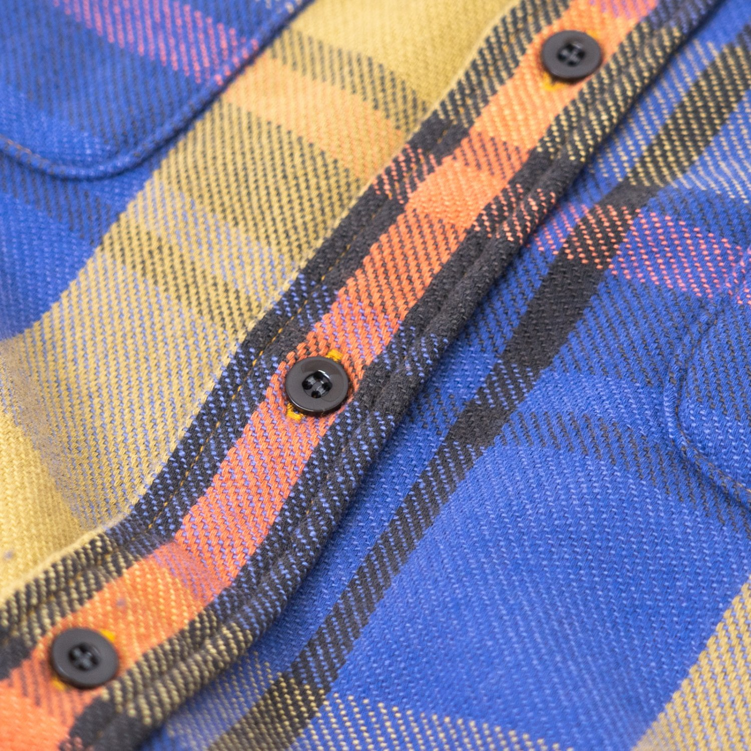 UNUSED * US1852 Heavy Flannel Shirt * Blue Check