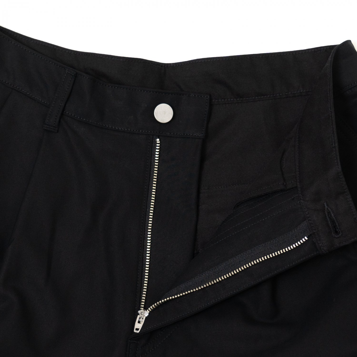 Graphpaper * Double Cloth Peach Two Tuck Pants * Black
