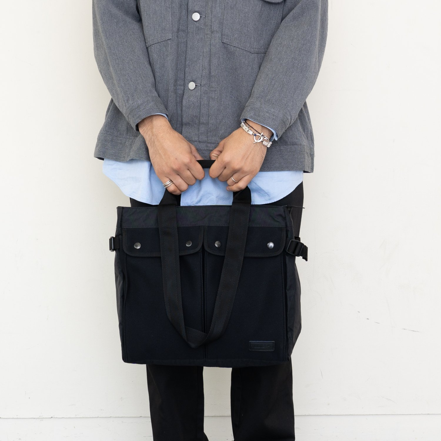 LEXDRAY * Queensland Double Handle Tote - made in Japan BLK COLLECTION -  * Black
