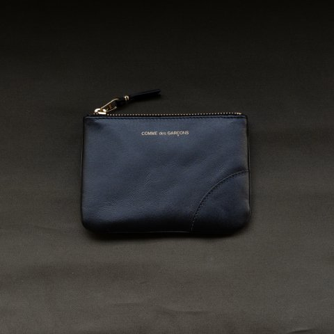 WALLET COMME des GARCONS * CLASSIC LEATHER LINE ZIP CASE * Black