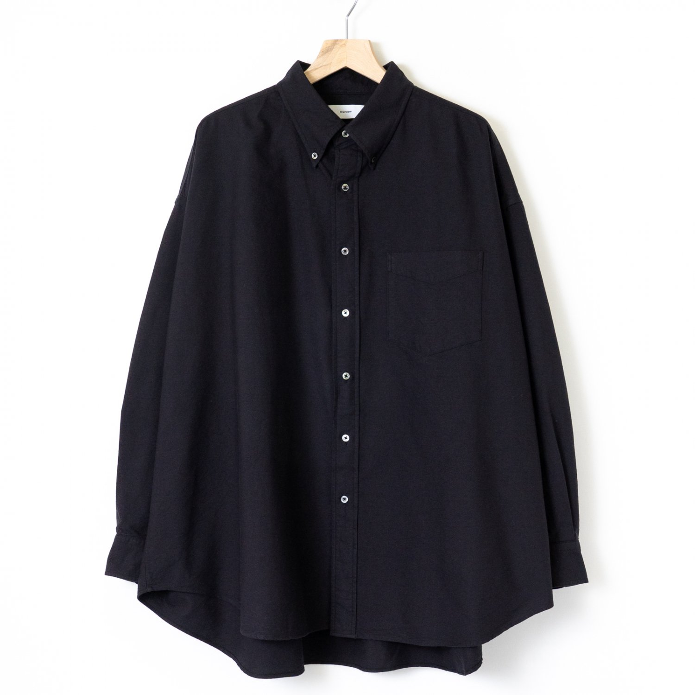 Graphpaper * Oxford L/S Oversized B.D Shirt * Black