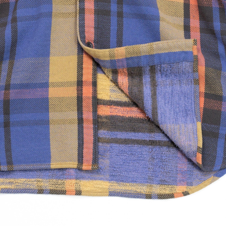 UNUSED * US1855 Hood Flannel Shirt * Blue Check