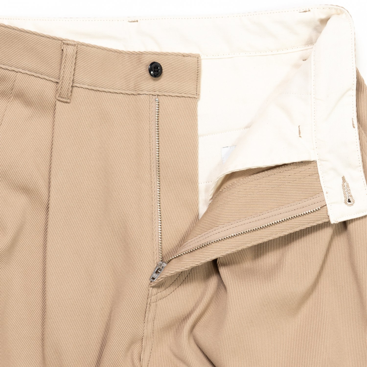 Graphpaper * Hard Twill Two Tuck Pants * Beige