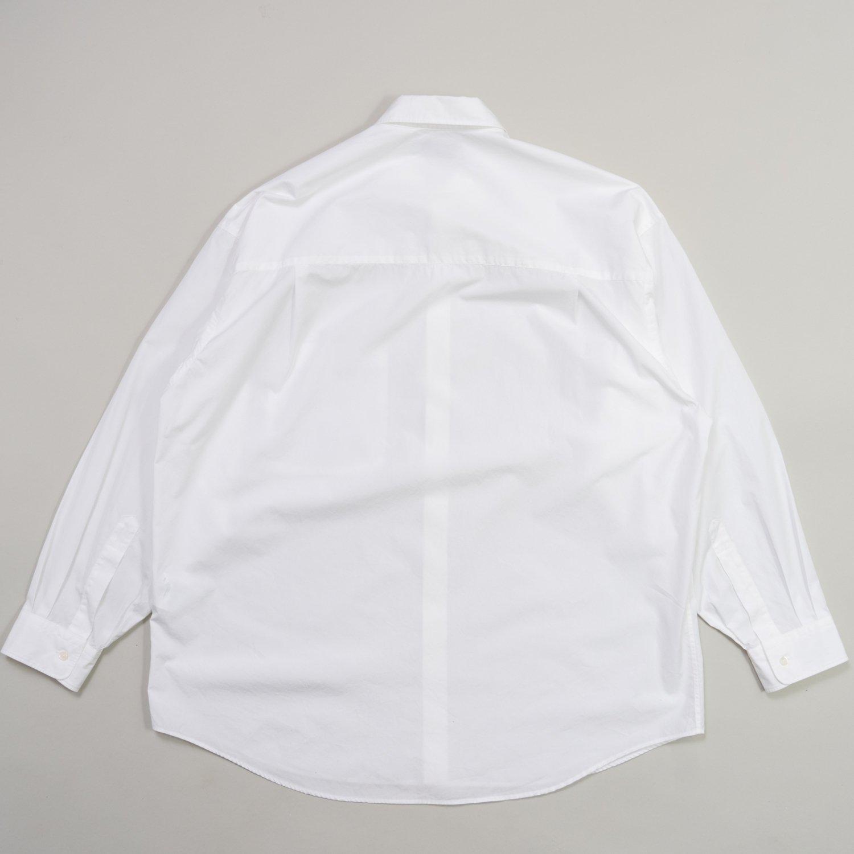 Graphpaper * Broad Oversized L/S Regular Collar Shirt * White