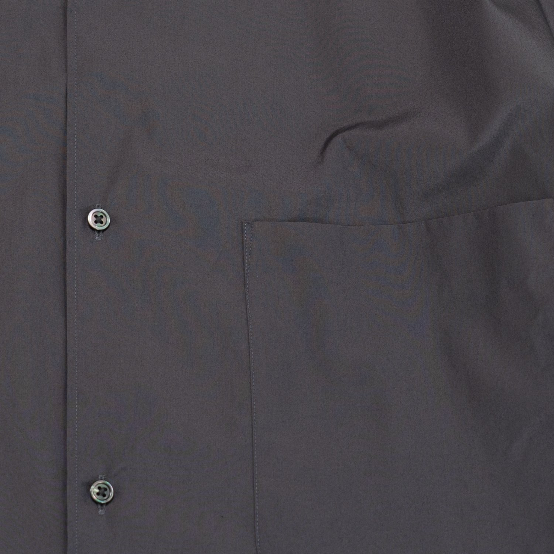 Graphpaper * Broad Oversized L/S Regular Collar Shirt * Charcoal Gray