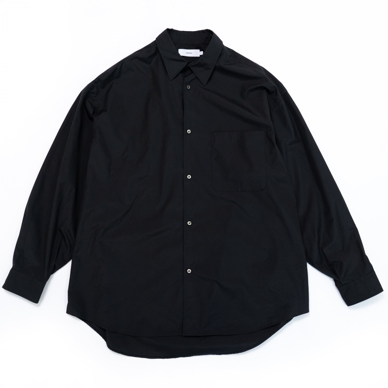 Graphpaper * Broad Oversized L/S Regular Collar Shirt * Black