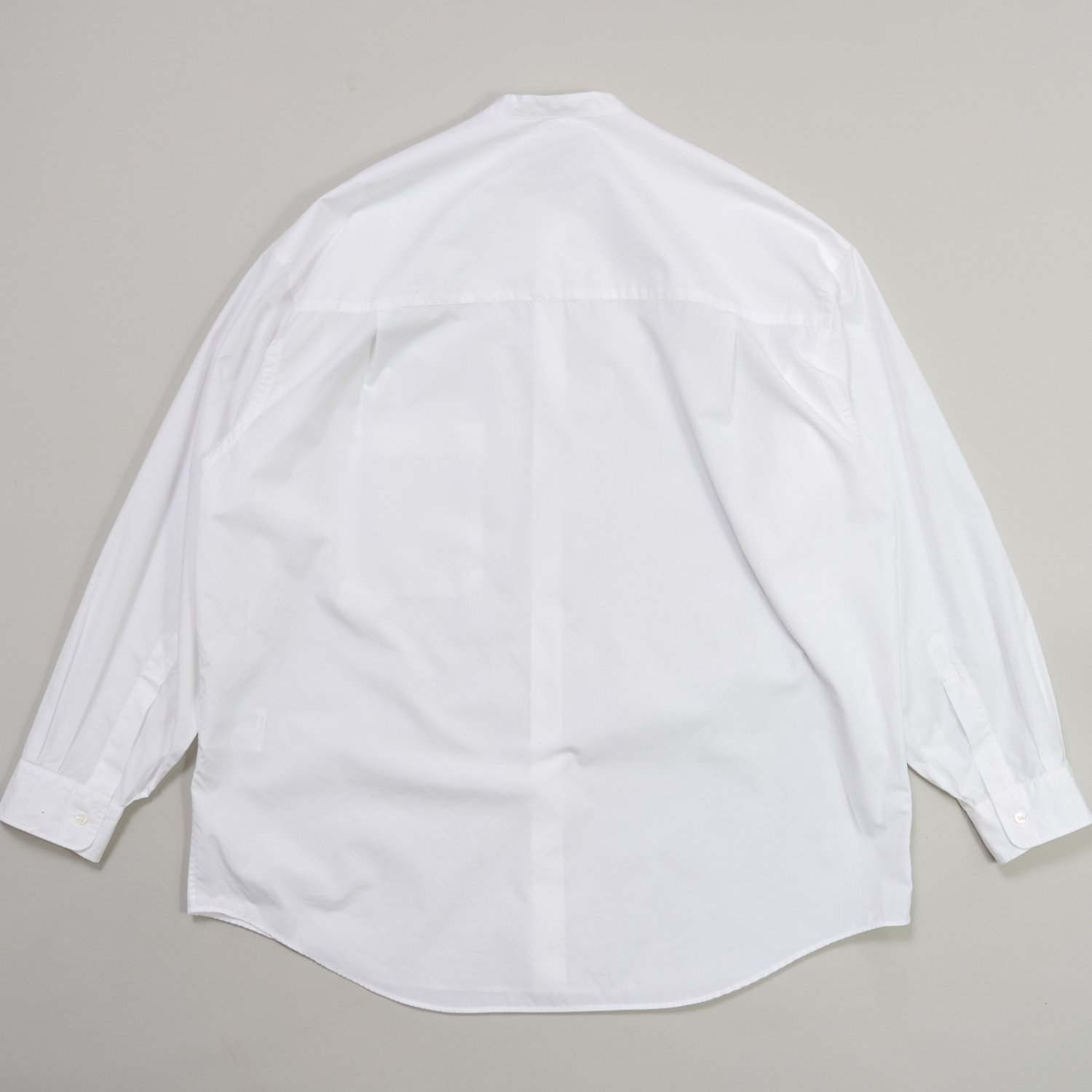 Graphpaper * Broad Oversized L/S Band Collar Shirt * White