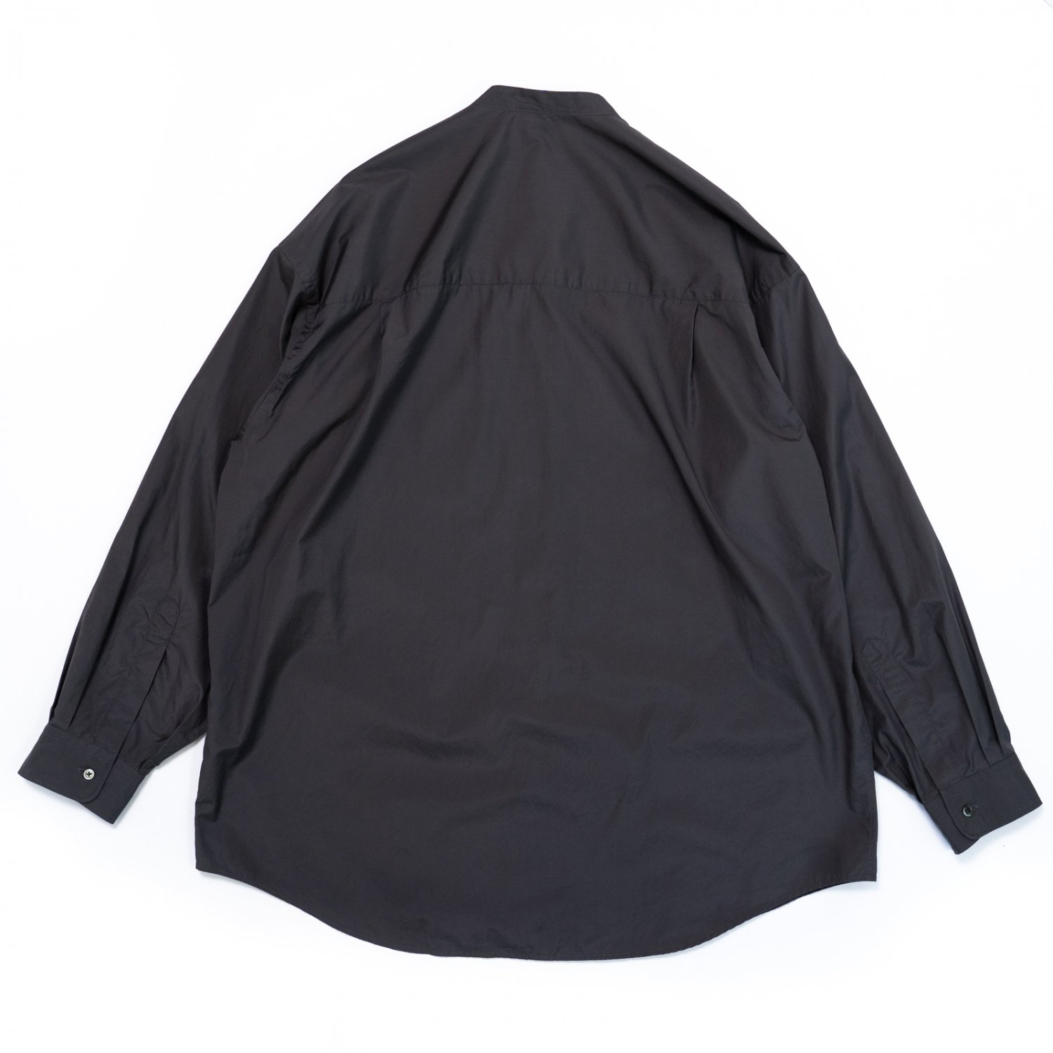 Graphpaper * Broad Oversized L/S Band Collar Shirt * Charcoal Gray