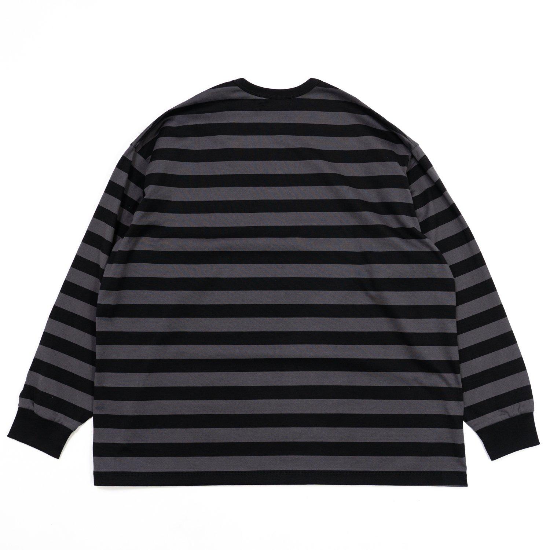 Graphpaper * Border L/S Tee * C.Gray/Black