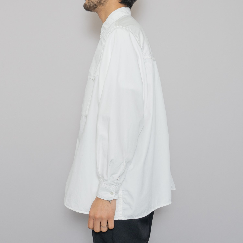 Graphpaper * Garment Dyed Poplin Umbrella Yoke Shirt * White