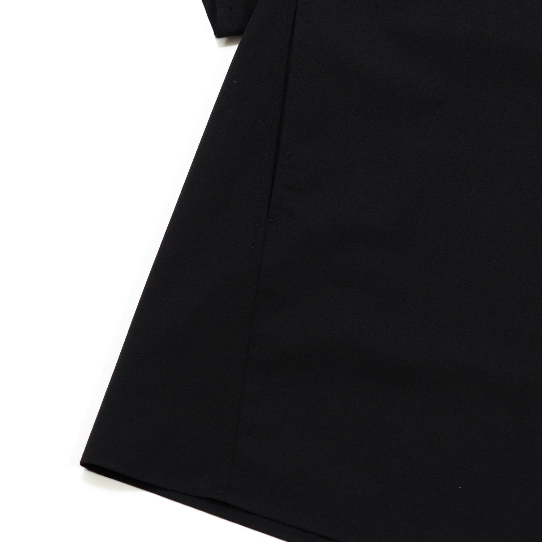 Graphpaper * Fine Wool Tropical Yoke Sleeve S/S Shirt * Black