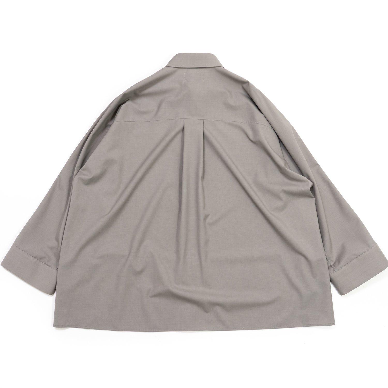 Graphpaper * Fine Wool Tropical Yoke Sleeve L/S Shirt * L.Gray