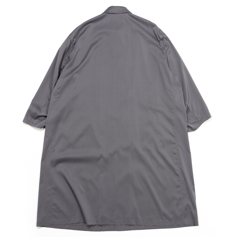 Graphpaper * Cupro Shirt Coat * Gray