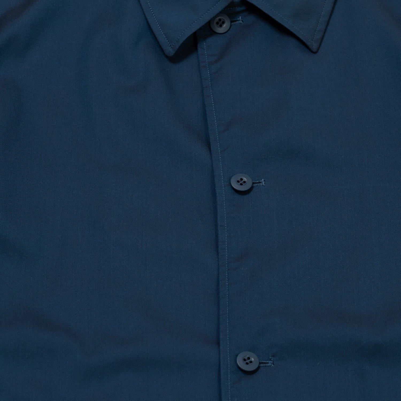 Graphpaper * Cupro Shirt Coat * Blue