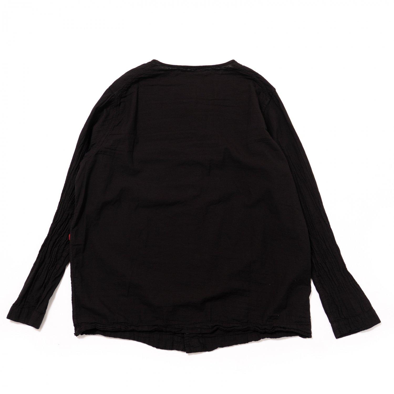 CASEY CASEY * 16HC204 VERGER2 SHIRT VOILE * Black