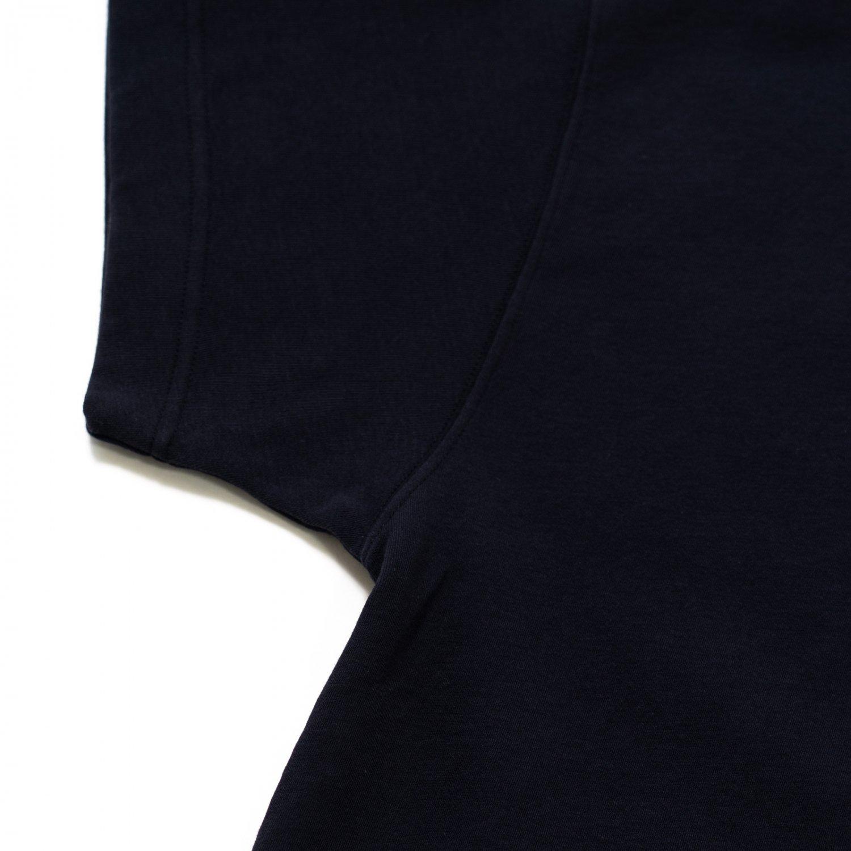 ts(s) * Cotton Nylon Soft Double Jersey Asymmetric Fit T-Shirt * Navy
