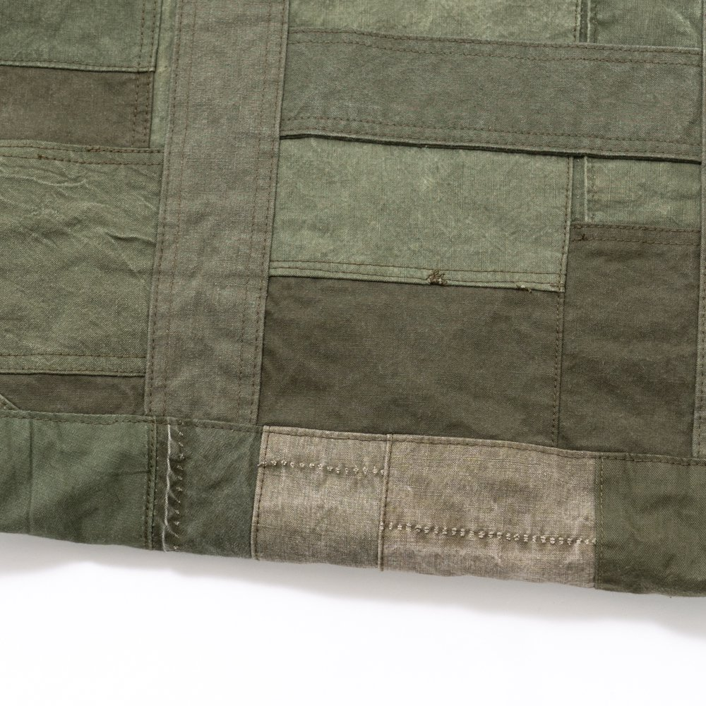 hobo * COTTON US ARMY CLOTH PATCHWORK TOTE BAG L * Olive B