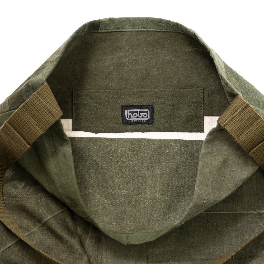 hobo * COTTON US ARMY CLOTH PATCHWORK SHOULDER BAG * Olive B
