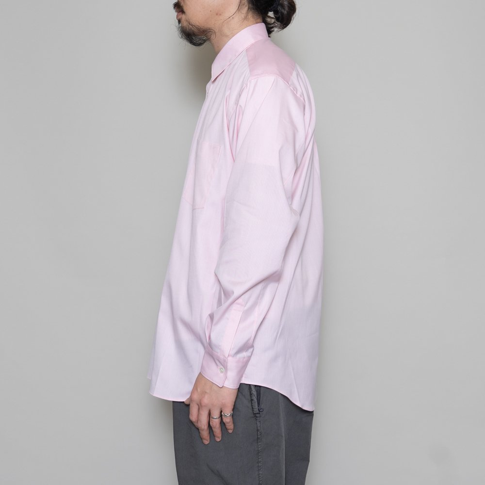 COMME des GARCONS SHIRT * Forever Wide Classic Oxford Long Sleeve Shirt * Pink