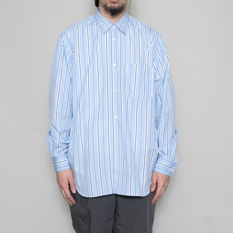 COMME des GARCONS SHIRT * Forever Wide Classic Poplin Stripe Long Sleeve Shirt * Stripe101