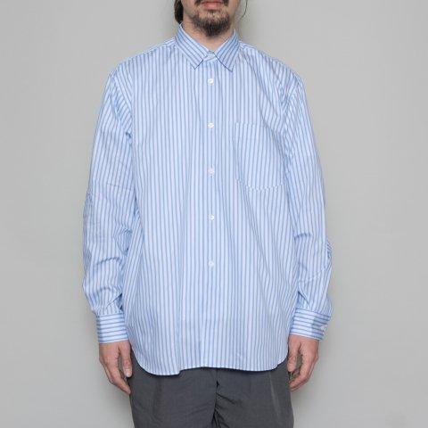 COMME des GARCONS SHIRT * Forever Wide Classic Poplin Stripe Long Sleeve Shirt * Stripe97