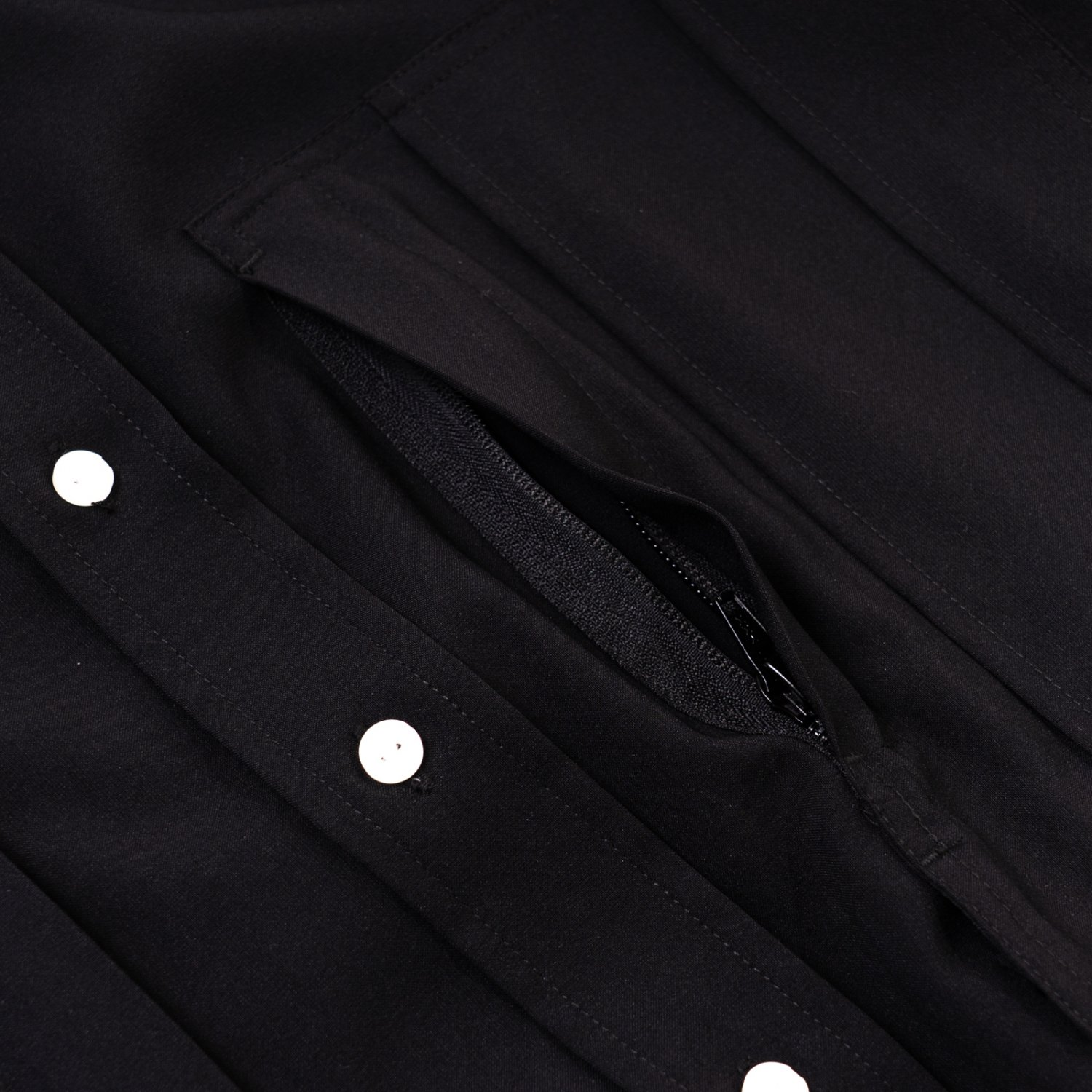 meanswhile * Dry Smooth Over Shirt * Black