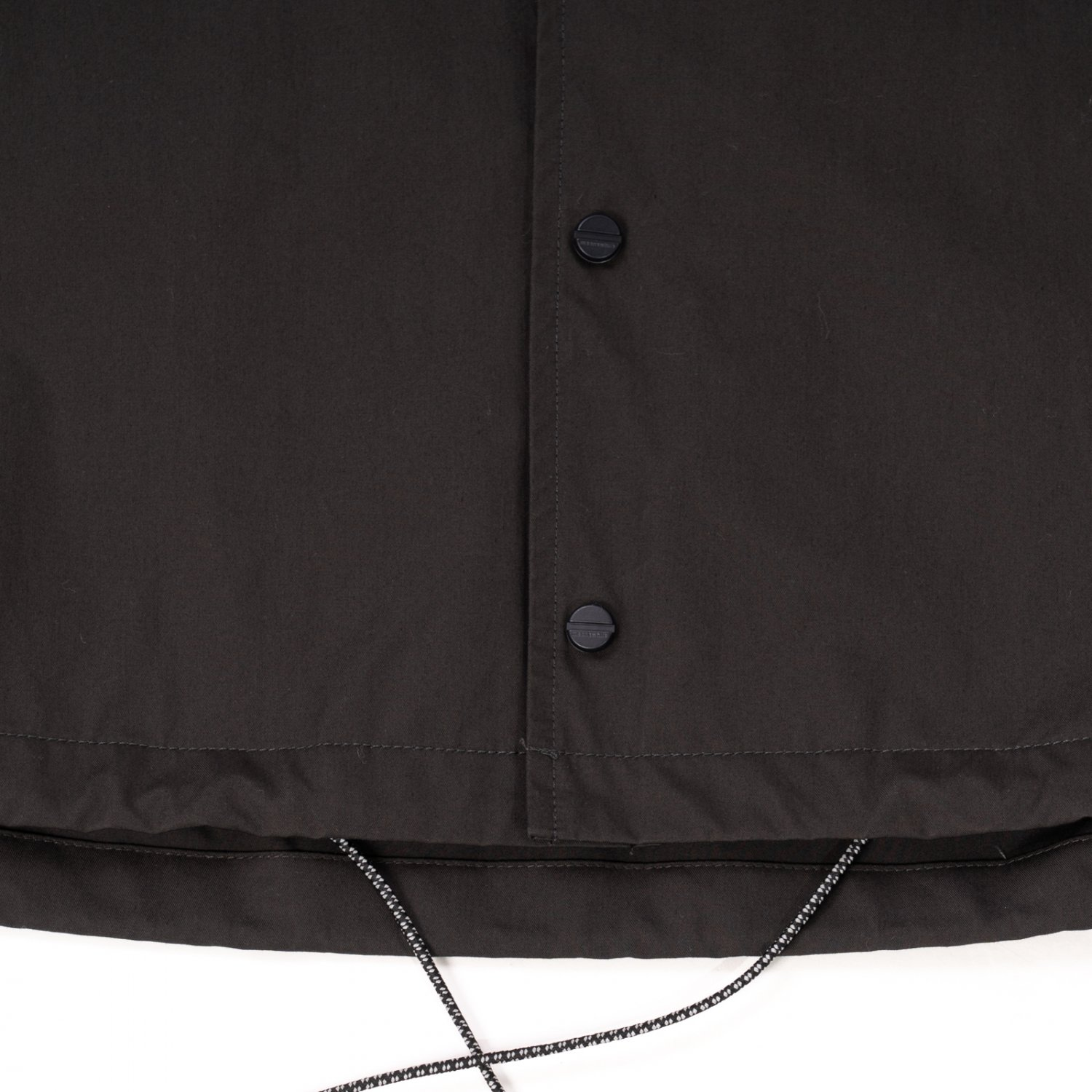 meanswhile * High Density Gabadine Coach Jacket * Off Black