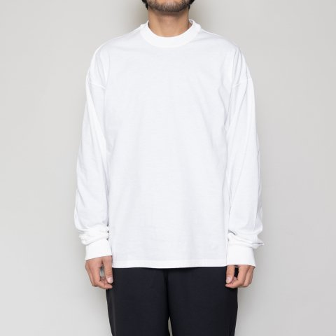 meanswhile * Crisp L/S Tee * White
