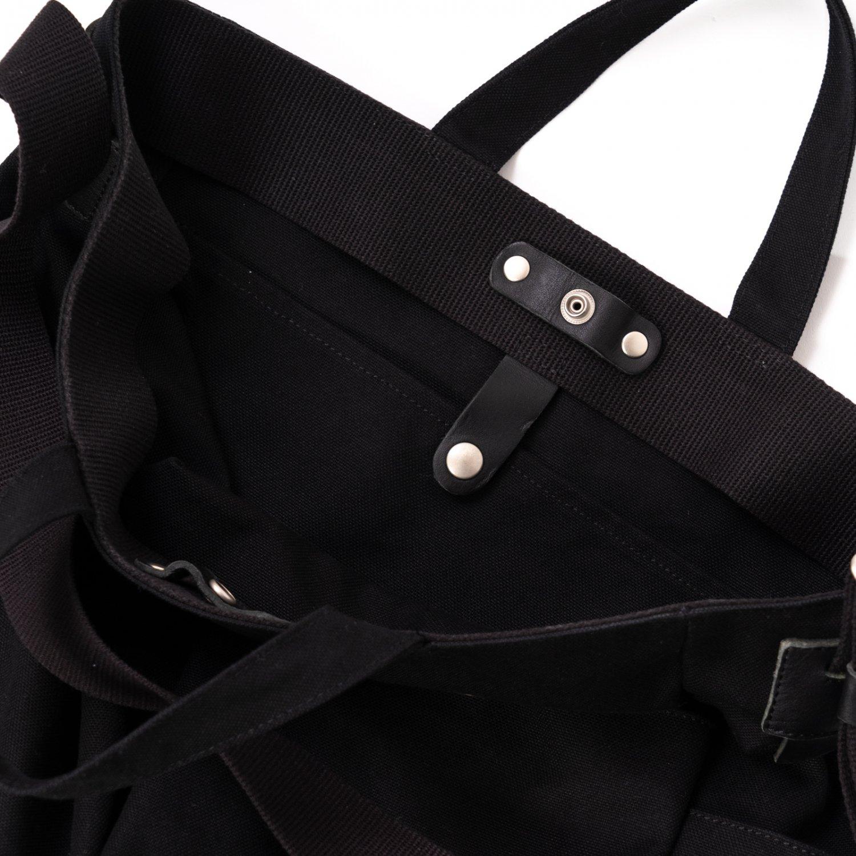 hobo * COTTON CANVAS 2WAY SHOULDER BAG * Black